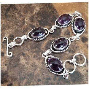 """Jewelry - DEEP Purple Amethyst Bracelet 7.5"""""""